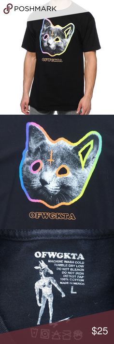 "Odd Future OFWGKTA Tron Cat Black T Shirt Odd Future OFWGKTA Tron Cat Black T Shirt. In good condition, size large chest 41"". 100% cotton . OFWGKTA Shirts Tees - Short Sleeve"