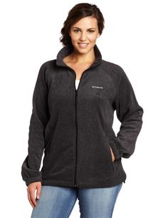 Simple Women's Plus Size Jacket for Spring time with full zip mode. This jacket is very warm and soft. The zippered pockets are roomy.
