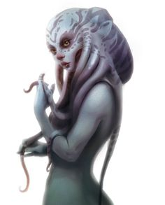 Septiss has tentacles growing from her head instead of hair