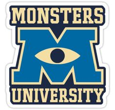 monster university logo • Also buy this artwork on stickers, apparel, phone cases, and more.