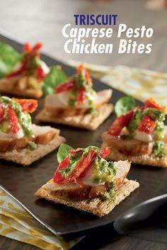 [ad] Looking for a fresh take on caprese this summer? Try the simple recipe for Caprese Pesto Chicken Bites.