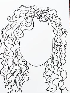 Art and Sketchbook Curly hair How to draw curly hair Trying Art pins Outline Art, Tattoo Outline, Cartoon Characters Sketch, Curly Hair Drawing, Line Doodles, Hair Sketch, Abstract Line Art, How To Draw Hair, Art Drawings Sketches