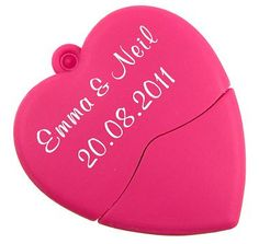 Pink Heart USB Flash Drive. If you want to customize a good-looking USB Flash Drive, visit www.unifiedmanfuacturing.com.