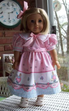 American Girl doll or 18 inch doll dress and hair by ASewSewShop, $22.00
