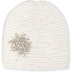 ca3c5adfb65 Jennifer Behr Embellished Starburst Beanie Hat (4950 MAD) ❤ liked on  Polyvore featuring accessories