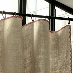glorious linen panels from Caravane in Paris