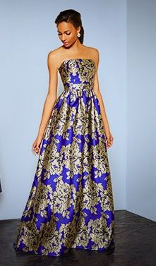 Blue And Gold Ball Gowns