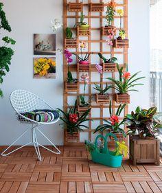 Para quem possui um espaço pequeno para montar um jardim comum, a d...