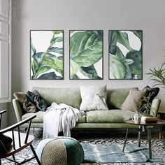 Big Tropical Leaves Art | 1004