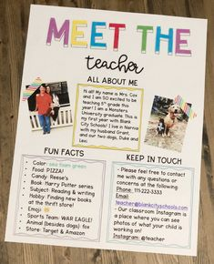 Meet The Teacher Letter - Editable - Lehrer Elementary Teacher, School Teacher, Elementary Schools, Elementary Classroom Themes, Infant Classroom Ideas, 4th Grade Classroom Setup, Kindergarten Classroom Decor, Toddler Classroom, High School Classroom