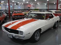 No car muscle car collection is complete without a classic Camaro. This one is a '69 SS...perfect.