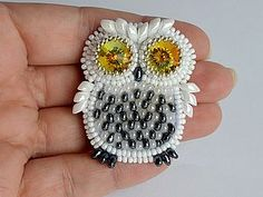 owl from beads - photo tutorial