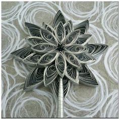 Elegant Handmade Quilled Paper Silver Star by PaperOrchidBoutique