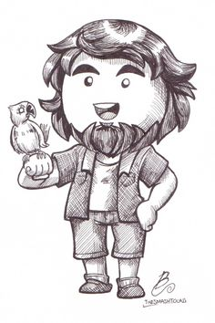 "daltonbrownart: "" Inktober 2015 - Day 05 I've never done a Game Grumps Animated starring JonTron, but here's what he'd look like if I ever did one. I prefer to focus on scenes post-Jon, since I think..."