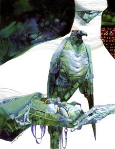 Illustrations from the album Sharaz-De (tome 1) by the Italian artist Sergio Toppi (1932-2012)