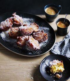 Polenta, apple and ricotta fritters :: Australian Gourmet Traveller