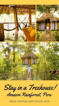 Treehouse Lodge Amazon Rainforest Peru