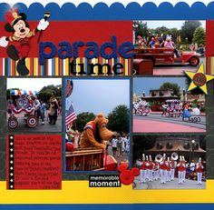 Disney Scrapbooking Layouts | EK Success - Disney - Mickey Mouse Collection - 12 x 12 Paper Pad