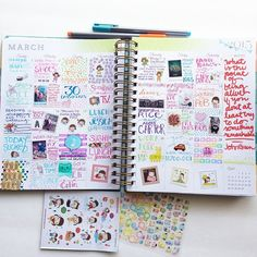 theverybestthing: March is done in my #inkwellpressplanner ☺️☺️☺️ #planner #plannerlove #projectlife