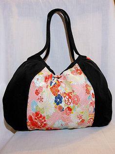 Japanese Bag Purse Handbag Hobo Bag  Authentic by KaeArtworks