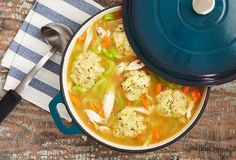 Add delicious dumplings to this classic soup recipe for a hearty meal that's easy to make!
