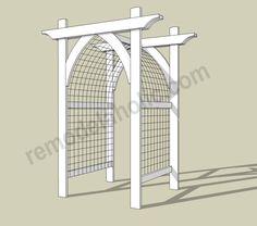 Garden Arbor DIY Plans -- archway trellis/gate for entry.Vegetable Garden Arbor DIY Plans -- archway trellis/gate for entry. Trellis Gate, Arbors Trellis, Garden Trellis, Cattle Panel Trellis, Plant Trellis, Flower Trellis, Trellis Ideas, Diy Trellis, Diy Arbour