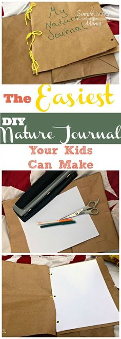 This is the easiest DIY nature journal your kids can make! Make this nature journal and start drawing what you see in nature! Camping Activities For Kids, Nature Activities, Science Activities, Outdoor Activities, Autumn Activities, Outdoor Games, Summer Activities, Camping Ideas, Family Activities