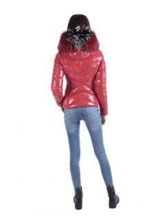 B-188 Glossy Red   Glanz   Jackets, Fur Coat, Jackets for women f7fbc3ff6f