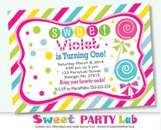 candy land invitation candyland invitation printable by partylab