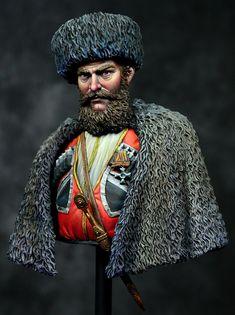Caucasian Line Cossack Caucasian War 1862 by Ernest · Putty&Paint Military Figures, Military Art, American Revolutionary War, American Civil War, Crimean War, Fantasy Figures, Military Modelling, Civil War Photos, Figure Model