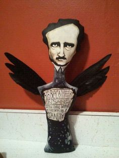 Edgar Allan Poe art doll by Macabre Noir