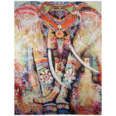 Amazon.com : Dremisland Home Decor Boho Style Wall Hanging Tapestry... ($15) ❤ liked on Polyvore featuring home, rugs, tapestry wall hanging, orange rug, orange area rug, tapestry rug and elephant tapestry wall hanging