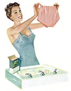 Fresh and clean Big Girl Panties! Vintage Advertisements, Vintage Ads, Vintage Posters, Vintage Photos, Retro Advertising, Illustration Mignonne, Illustration Girl, Girl Illustrations, Vintage Housewife