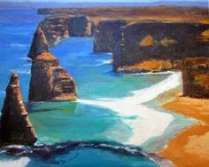 Southern Coast Acrylic on Stretched Canvas 16 x 20 in/40.6 x 50.8 cm