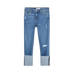 Zara Straight Cut Mid Rise Cropped Jeans, Zara $25