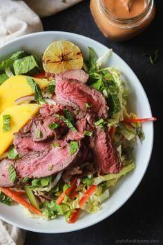 Thai Steak Salad with Spicy Peanut Dressing-2