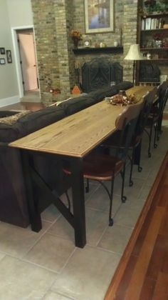 Deep In The Heart Of Texas Vette: Extra Long Sofa Table