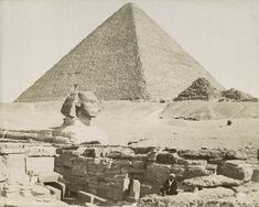 Title of photo: Pyramide de Cheops le Sphinx et le temple de Chefre Photographer: Zangaki Date of photo: 1894 Location of Photo: New York Public Library Digital