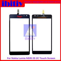 "High Quality 5.0"" For Nokia Lumia 535 N535 2S1973 2C1607 Touch Screen Digitizer Sensor Panel Front Glass Lens Free Shipping"