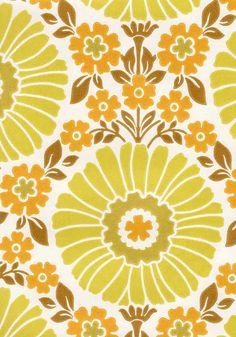 Auringonkukka, Pihlgren ja Ritola Oy   Satamatie 8, 37800 Toijala Fabric Patterns, Print Patterns, Pattern Designs, Pattern Wallpaper, 60s Wallpaper, Textiles, Retro Fabric, Retro Pattern, Vintage Patterns