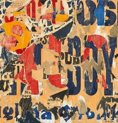 Mimmo RotellaUntitled (Boy) 1960 decollage on canvas