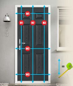 How to measure a composite door reaxy for fitting