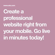Create a professional website right from your mobile. Go live in minutes today! Making Your Own Website, Start A Website, Create Website, How To Start A Blog, Get Paid For Surveys, Web Creation, Professional Website, Brand Building, Home Based Business