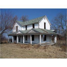 Old Folk Victorian Farmhouse Location Unknown Abandoned Ohio, Abandoned Farm Houses, Old Farm Houses, Abandoned Mansions, Abandoned Places, Old Buildings, Abandoned Buildings, Abandoned Castles, Folk Victorian