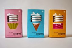 Title Light Bulb Competition New Talent Annual 2013 Category Packaging Date Entered Jan 2013 Client Light Bulb Instructor Michele Damato School Art Institute of Houston Student Name Packaging Box, Ice Cream Packaging, Clever Packaging, Brand Packaging, Kids Packaging, Candle Packaging, Vintage Packaging, Cosmetic Packaging, Product Packaging