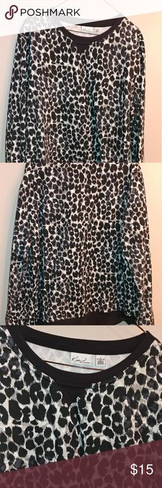 Leopard Print Sweatshirt Cute sweatshirt has been worn several times. This is in good condition. Make me an offer or add it to a bundle for 10% off. Kim Rogers Tops Sweatshirts & Hoodies