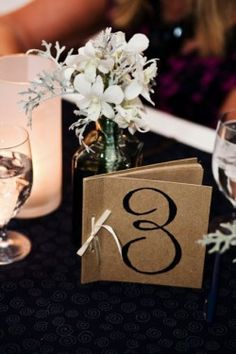 DIY Guest Book Table Numbers