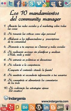 Los 10 mandamientos del community manager
