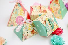 PAPER gift box pink Square Wedding Favor Boxes party candy bird flower box craft kraft sweet lovely cute gift