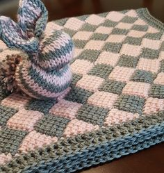 I'm in love with Tunisian Entrelac! This lovely stroller blanket was a delight to make.